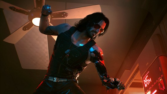 Cyberpunk 2077 Джонни сильверхенд бьет