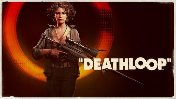 Deathloop девушка Джулианна со снайперской винтовкой