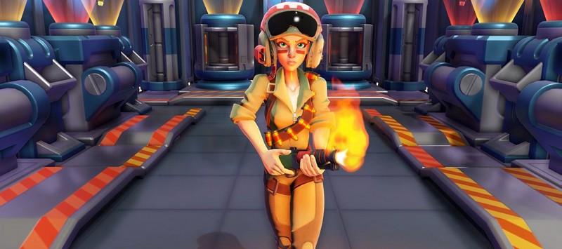 Evil Genius 2 агент девушка с огнеметом